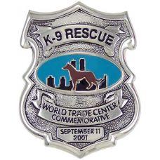 9/11 Commemorative K-9 Rescue Badge