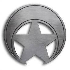 Custom Crescent Star Silver Badge