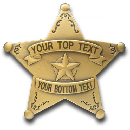 Custom 5 Point Bronze Star Badge with Filigree -  - PH3102C