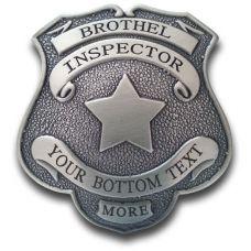 Custom Brothel Inspector Badge