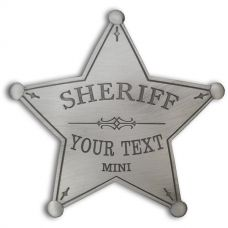 Custom Sheriff Star Badge