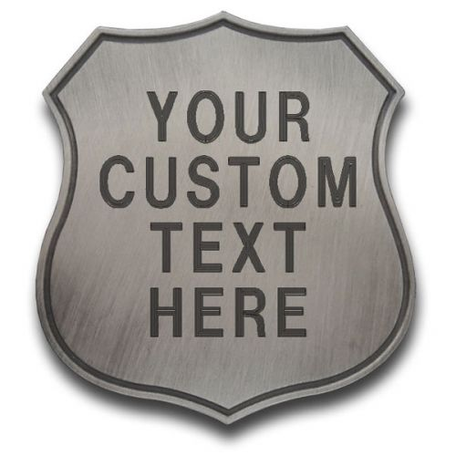 Custom Shield Badge with Text Engraving -  - PH311C