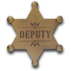 Deputy Mini Badge - Antique Gold
