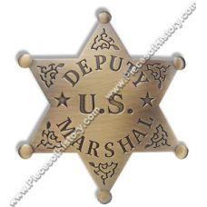 Deputy US Marshal Brass Badge