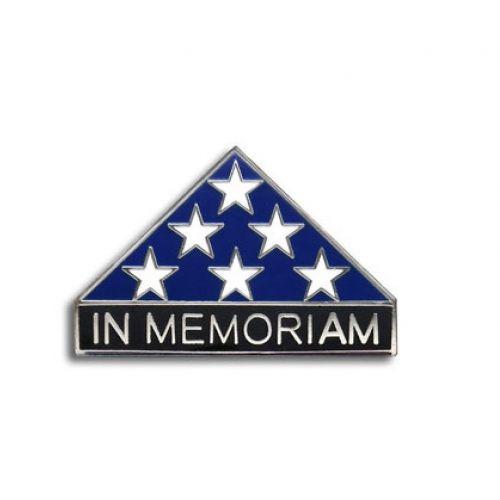 In Memoriam Folded Flag Pin Silver -  - PIN2772