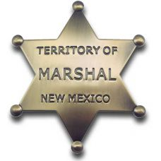 Marshal New Mexico (Brass) Star Badge
