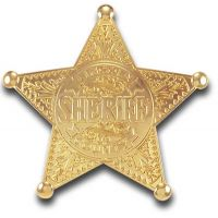 Sheriff Lincoln County - Gold Star Badge