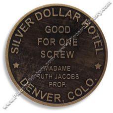 Silver Dollar Hotel Brothel Token