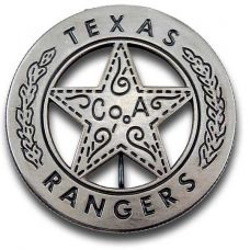 Texas Rangers Co. A Peso Back Badge