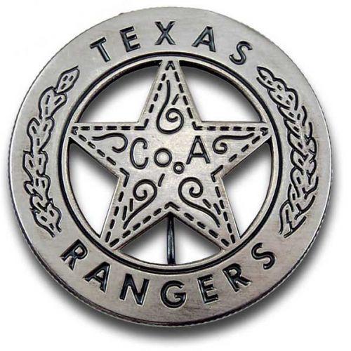 Texas Rangers Co. A Peso Back Badge -  - PH024