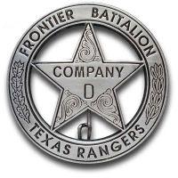 Texas Rangers Co. D Peso Back Badge