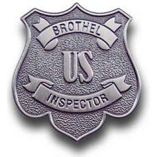 US Brothel Inspector Badge Pin