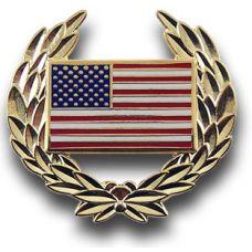 US Flag Wreath Pin