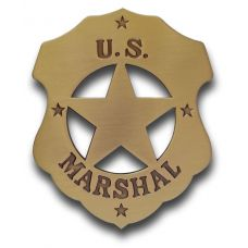 US Marshal Mini Badge - Antique Gold