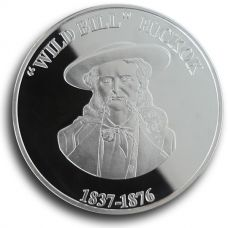 Wild Bill Hickok Collectible Medallion - Silver