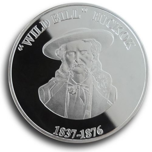 Wild Bill Hickok Collectible Medallion - Silver -  - COIN6S